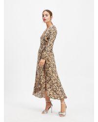 Miss Selfridge - Petite Multi Colour Animal Print Maxi Dress - Lyst