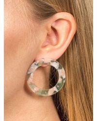 Miss Selfridge | Circle Perspex Stud Earrings | Lyst