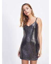 Miss Selfridge - Petite Black Sleeve Camisole Dress - Lyst