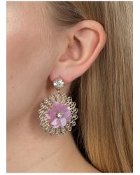 Miss Selfridge - Flower Sequin Earrings - Lyst