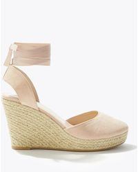 Miss Selfridge Wesley Nude Closed Toe Espadrilles