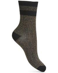 Miss Selfridge - Sparkle Sport Sock - Lyst