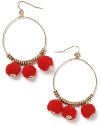 Miss Selfridge - Oval Hoop Earrings - Lyst