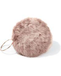 Miss Selfridge Mink Faux Fur Circle Clutch