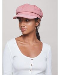 Miss Selfridge - Pink Corduroy Baker Boy Hat - Lyst