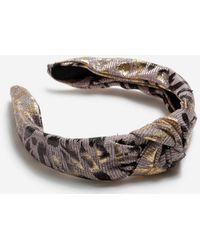 Miss Selfridge - Multi Colour Leopard Print Headband - Lyst