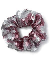 Miss Selfridge - Pink Sequin Scrunchie - Lyst