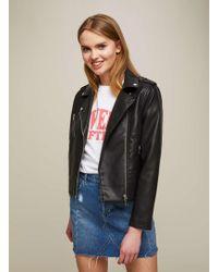 Miss Selfridge   Petite Black New Millie Biker Jacket   Lyst