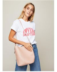 Miss Selfridge - Nude Western Buckle Bucket Bag - Lyst