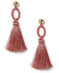 Miss Selfridge - Pink Drop Earrings - Lyst