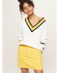 Miss Selfridge - Exposed Button Mini Skirt - Lyst