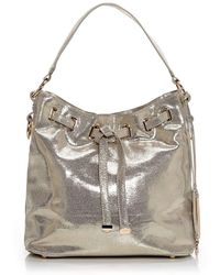 Moda In Pelle - Granziabag Gold Leather - Lyst
