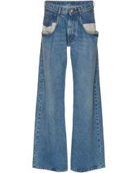 Maison Margiela - Dropped Pocket High-rise Wide-leg Jeans - Lyst