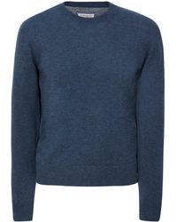 Maison Margiela - Panelled Wool And Cotton-blend Jumper - Lyst