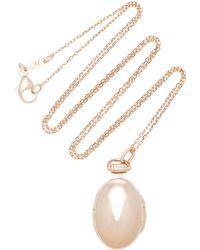 Monica Rich Kosann - Anna 18k Rose Gold Locket Necklace - Lyst