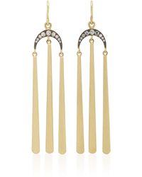 Sylva & Cie - 18k Gold Diamond Tasseled Earrings - Lyst