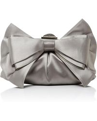 Judith Leiber Couture | Madison Satin Bow Clutch | Lyst