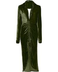 Cult Gaia - Shira Gathered Velvet Shirt Dress - Lyst
