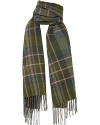 Loewe - Checked Cashmere And Wool-blend Scarf - Lyst