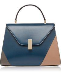 Valextra - Iside Medium Color-blocked Leather Shoulder Bag - Lyst