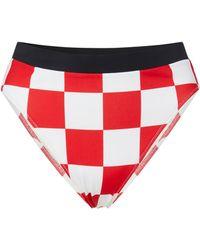 Solid & Striped - + Re/done Malibu High-waisted Printed Bikini Briefs - Lyst