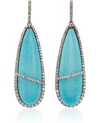 Kimberly Mcdonald - Turquoise And Diamond Earrings - Lyst