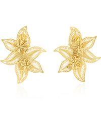 Mallarino | Oriana Wild Orchid Stud Earrings | Lyst