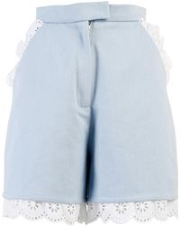 ANOUKI - Light Blue Denim Shorts - Lyst