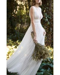 Costarellos Bridal - Illusion V-neckline Ethereal Dress - Lyst