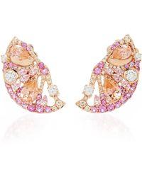 Anabela Chan Pink Grapefruit Slice Earrings