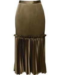 ANOUKI - Pleated Midi Skirt - Lyst