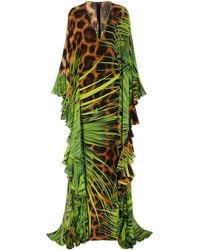 Naeem Khan - Silk Jungle Animal Print Caftan - Lyst