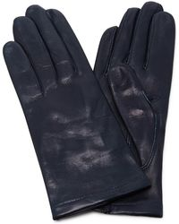 Maison Fabre - Navy Floods Leather Gloves - Lyst