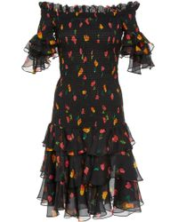 Caroline Constas - Kennie Silk Dress - Lyst