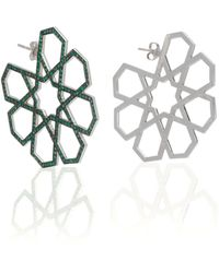 Ralph Masri - M'o Exclusive Arabesque Emerald Earrings - Lyst