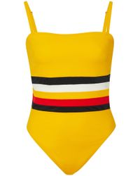 Solid & Striped - + Re/done Malibu Striped One-piece Swimsuit - Lyst