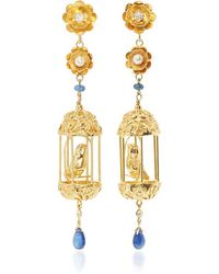 Of Rare Origin - Exclusive Gold Aviary Classic Earrings - Lyst