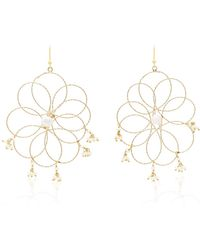 Rosantica Cosmo Gold-tone Pearl Earrings - White