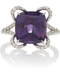 Martin Katz - One-of-a-kind Cushion Cut Purple Sapphire Ring - Lyst