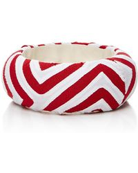 Mola Sasa - Red And White Printed Medium Bangle - Lyst