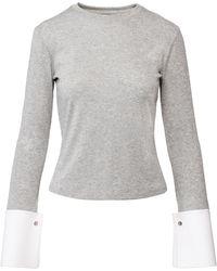 ANOUKI - Sparkly Silver Stretching Asymmetric Top - Lyst
