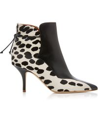 Malone Souliers - Jordan Leather Calf-hair Ankle Boots - Lyst
