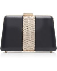 Lanvin - Chain Embellished Leather Box Clutch - Lyst