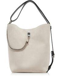 Givenchy - Gv Medium Metallic Suede Bucket Bag - Lyst