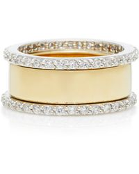 Fallon - Band Gold-plated Cubic Zirconia Ring - Lyst