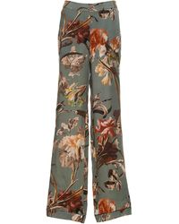 Off-White c/o Virgil Abloh Floral-print Pyjama Trousers - Green