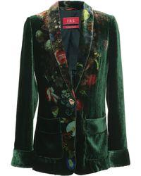 For Restless Sleepers - Kakia Velvet Pyjama Jacket - Lyst