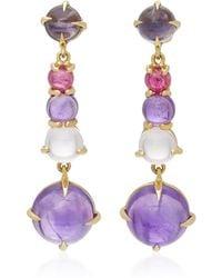 Daria de Koning | Dagny Long 18k Gold Multi-stone Earrings | Lyst