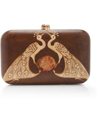 Silvia Furmanovich - Marquetry Double Peacock Clutch - Lyst