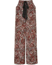 Warm - Medallion Printed Voile Wide-leg Pants - Lyst